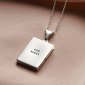 Personalised Book Locket Necklace