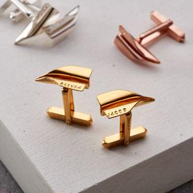 Personalised Paper Plane Cufflinks