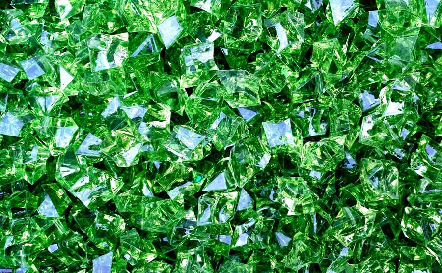 Emerald Diamond Birthstone in natural form