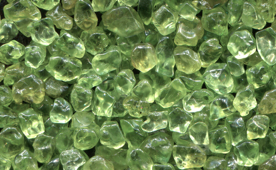 Peridot Birthstone in natural form