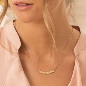 Personalised Scalloped Curve Necklace