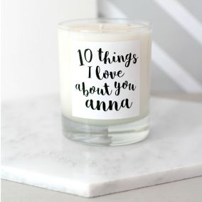 10 Things I Love About You Scented Candle