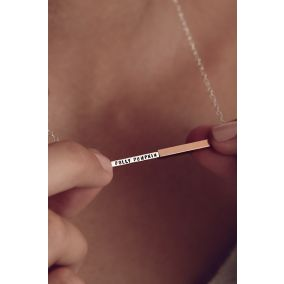 Personalised Secret Message Bar Slider Necklace