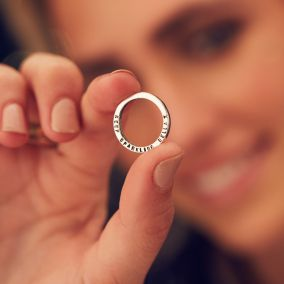 Personalised Quote Circle Ring