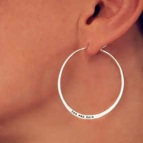 Personalised Large Verse Hoop Earrings