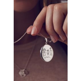 Personalised My Favourite Drawing Locket Necklace