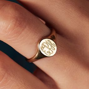 Personalised Monogrammed Signet Ring