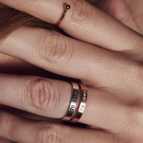 Personalised Script Ring