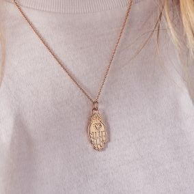 Personalised Hamsa Hand Necklace