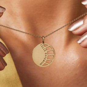 Personalised Large Sunburst Necklace