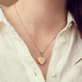 Heart Locket With Diamond