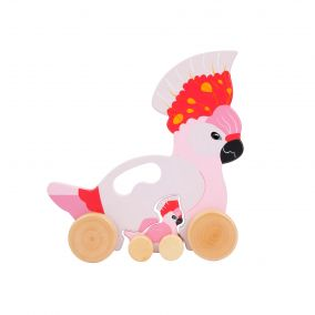 Wooden Push 'n' Pull Cockatoo Toy