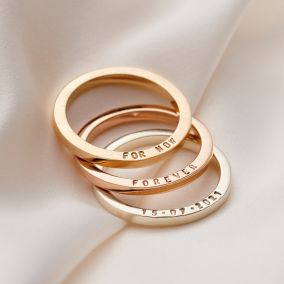 Personalised 9ct Gold Triple Diamond Eternity Ring Set