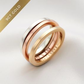 Personalised 9ct Gold Flat Wedding Ring