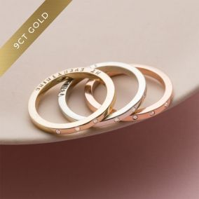 Personalised 9ct Gold Triple Diamond Eternity Ring