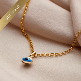 9ct Gold Evil Eye Bracelet