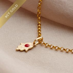 9ct Gold Hamsa Hand Bracelet