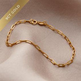 9ct Gold Chain Bracelet
