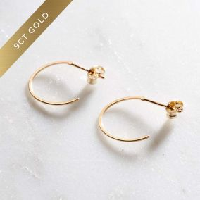 9ct Gold Open Hoop Earrings