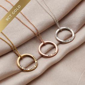 9ct Gold Medium Message Necklace