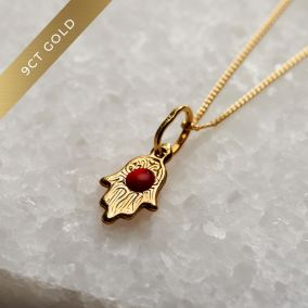 9ct Gold Mini Hamsa Hand Necklace