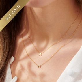 Petite 9ct Gold Initial Necklace