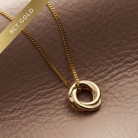 Petite 9ct Gold Russian Ring Necklace