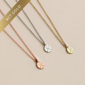 9ct Gold Mini Posh Tag Necklace