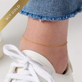 Twisted 9ct Gold Anklet