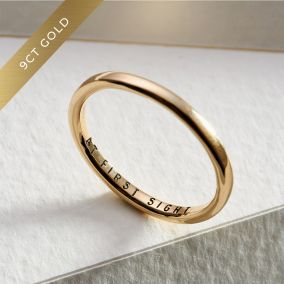 Personalised 9ct Gold Slim Wedding Ring