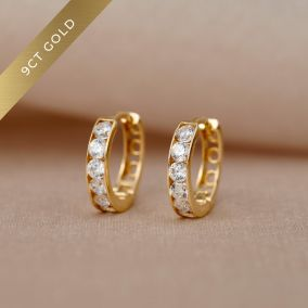 9ct Gold Huggie Earrings