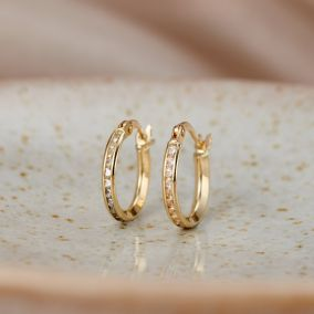 Slim 9ct Gold Huggie Earrings