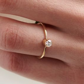 9ct Gold Tall Diamond Engagement Ring