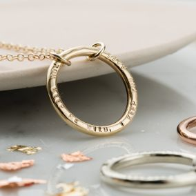 Personalised 9ct Gold Full Circle Necklace