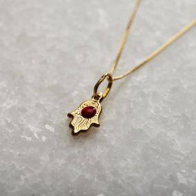 9ct Gold Mini Hamsa Hand Necklace