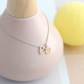 9ct Gold Heart & Tag Necklace