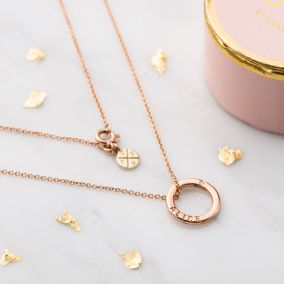 Personalised Diamond 9ct Gold Mini Message Necklace