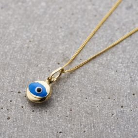 9ct Gold Mini Evil Eye Necklace