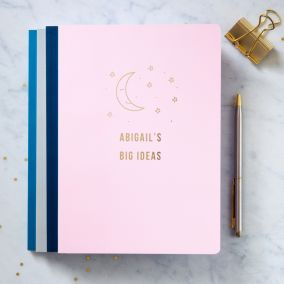 Personalised Gold Foil A5 Dream Journal