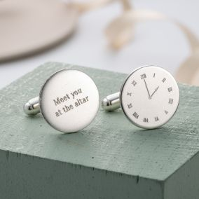 Personalised Wedding Special Time Cufflinks