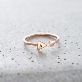 Personalised Arrow Open Ring