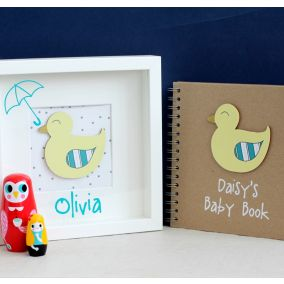 Personalised Baby Duck Picture