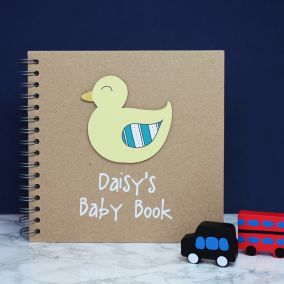 Personalised Baby Memory Book