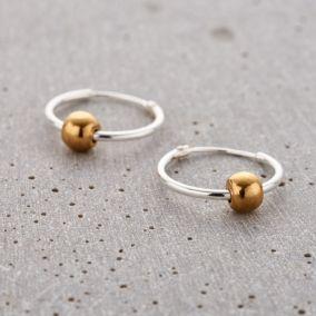 Ball Hoop Earrings