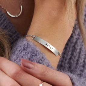 Personalised Flat Bar Bracelet