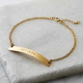 Personalised Flat Bar Bracelet