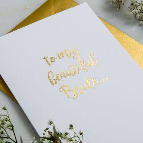 Personalised Beautiful Bride Wedding Card