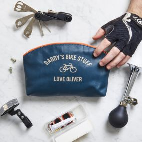 Personalised Leather Bag With Bike Tool Kit
