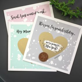 Personalised Birthday Heart Scratch Card