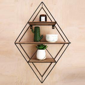 Geometric Black Wire Display Shelf